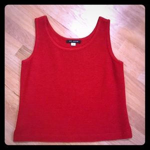 St John red knit tank